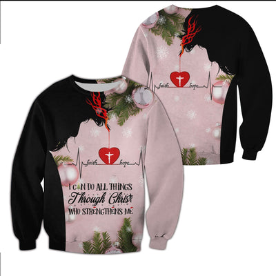 Christian Clothing 3D Printed - Christmas Limited Edition - I Can Do All Things Through Christ - GnWarriors Clothing