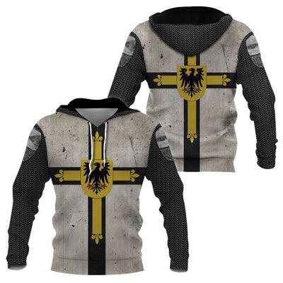 3D Knight Hoodie - Knight Templar Apparel - Teutonic Knight Limited Edition - GnWarriors Clothing