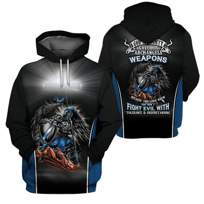 3D Angels Apparel - Don't Fight Evil With Tolerance And Understanding - GnWarriors Clothing