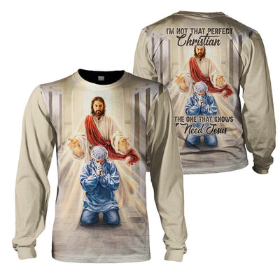 3D Christian Apparel - Merciful Jesus Bless Our Healthcare Heroes - GnWarriors Clothing