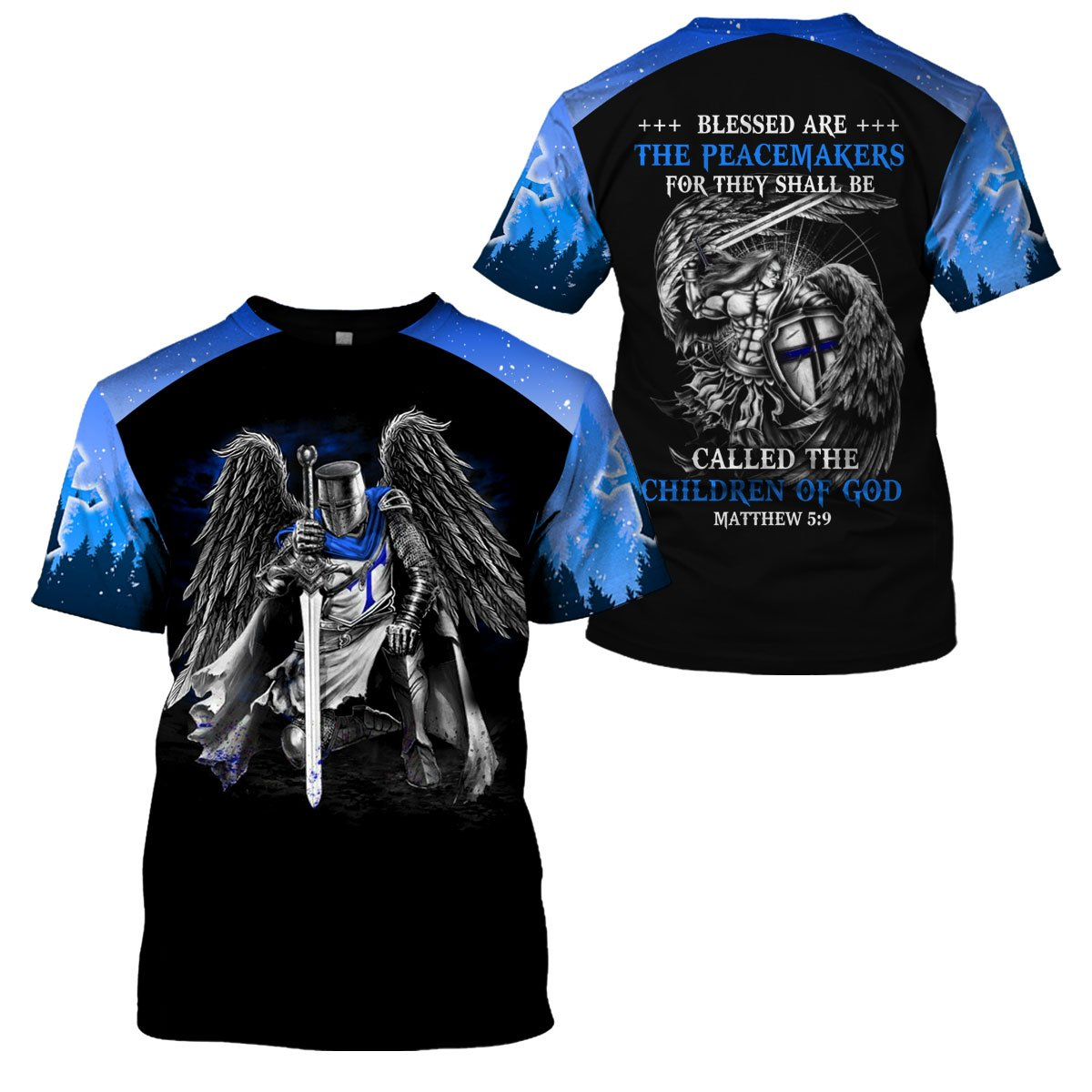 3D Thin Blue Line Apparel - Peacemaker Children Of God - 4zOutfitters Merchandise