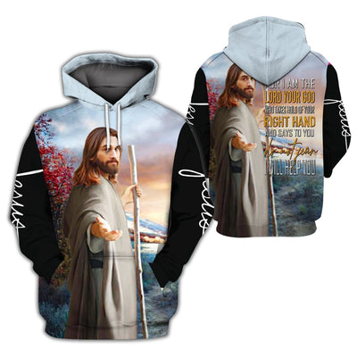 3D Christian Hoodie - Do Not Fear I Will Help You - GnWarriors Clothing