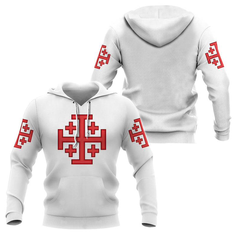 3D Knight Hoodie - Knight Templar Apparel - Knights of the Holy Sepulcher - GnWarriors Clothing