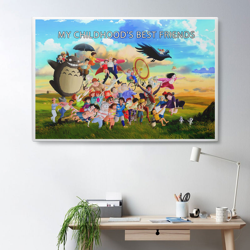 3D Canvas, Poster - Childhood's Best Friends - 4zOutfitters Merchandise