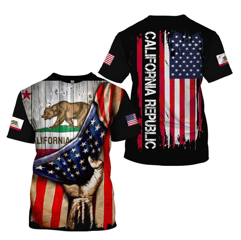 3d America Apparel - Californian Proud 2 - 4zOutfitters Merchandise
