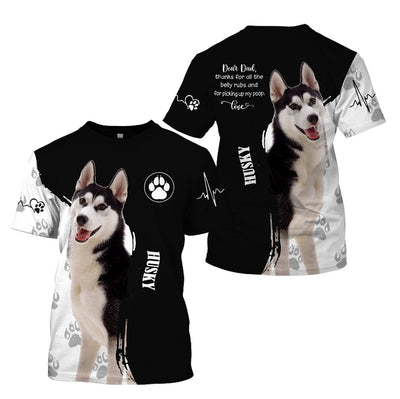 3d apparel - Best gift for dog Dad - Husky - 4zOutfitters Merchandise