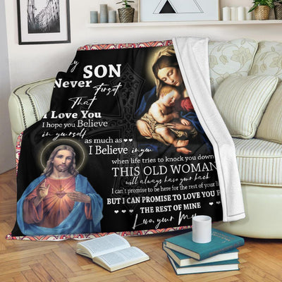 Trending Christian Quilt Collection - Son Gift Always Have Your Back Quilt - GnWarriors Clothing