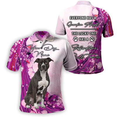 3D Customize Apparel - The Lucky One Has A Staffordshire Bull Terrier