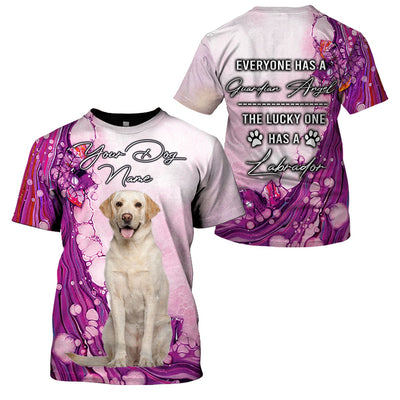 3D Customize Apparel - The Lucky One Has A Labrador - 4zOutfitters Merchandise