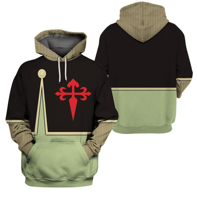 3D Knight Hoodie - Knight of ST James