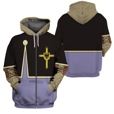 3D Knight Hoodie - Teutonic Knight