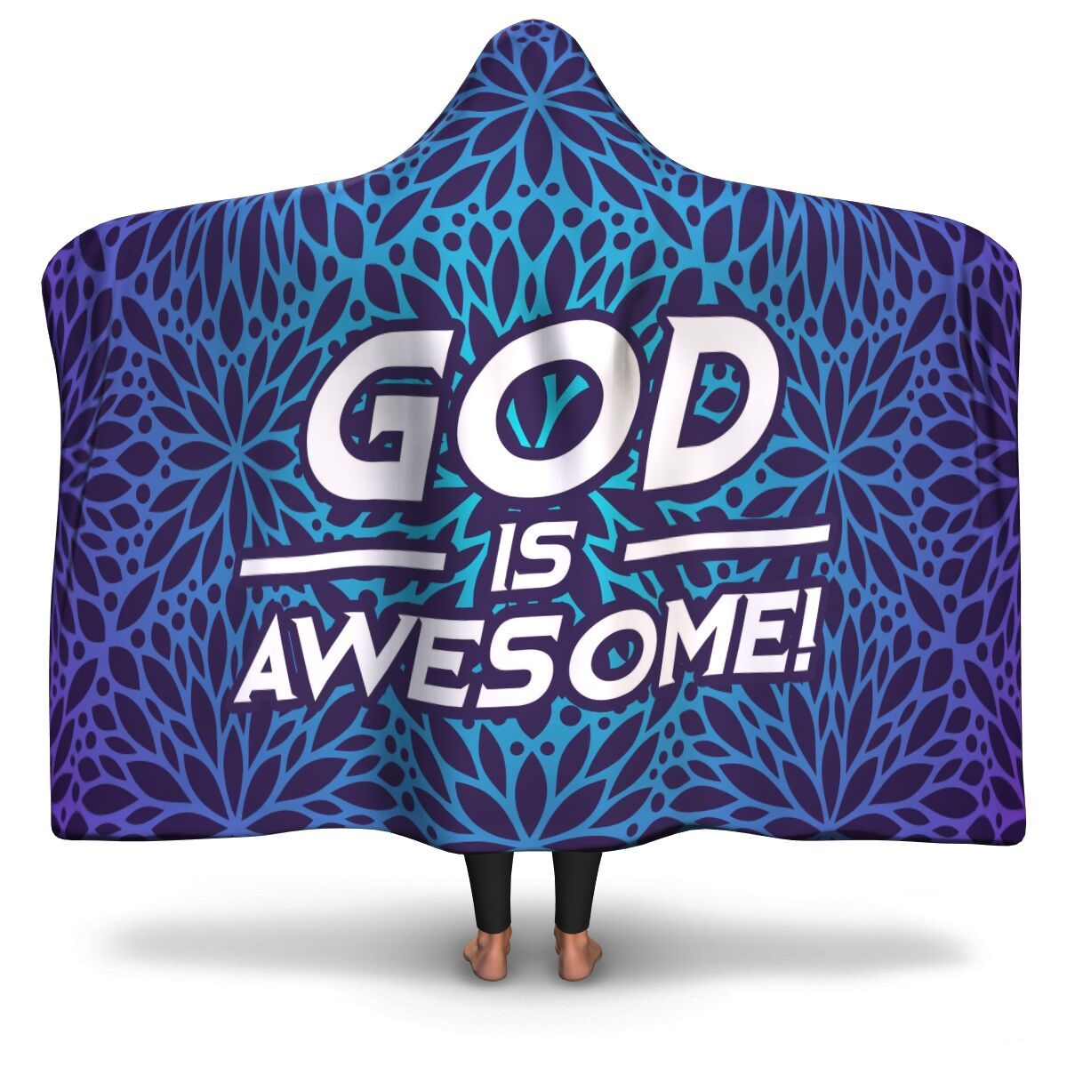 Christian Hooded Blanket - God Is Awesome, Scripture and Quotes Hooded Blanket - GnWarriors Clothing