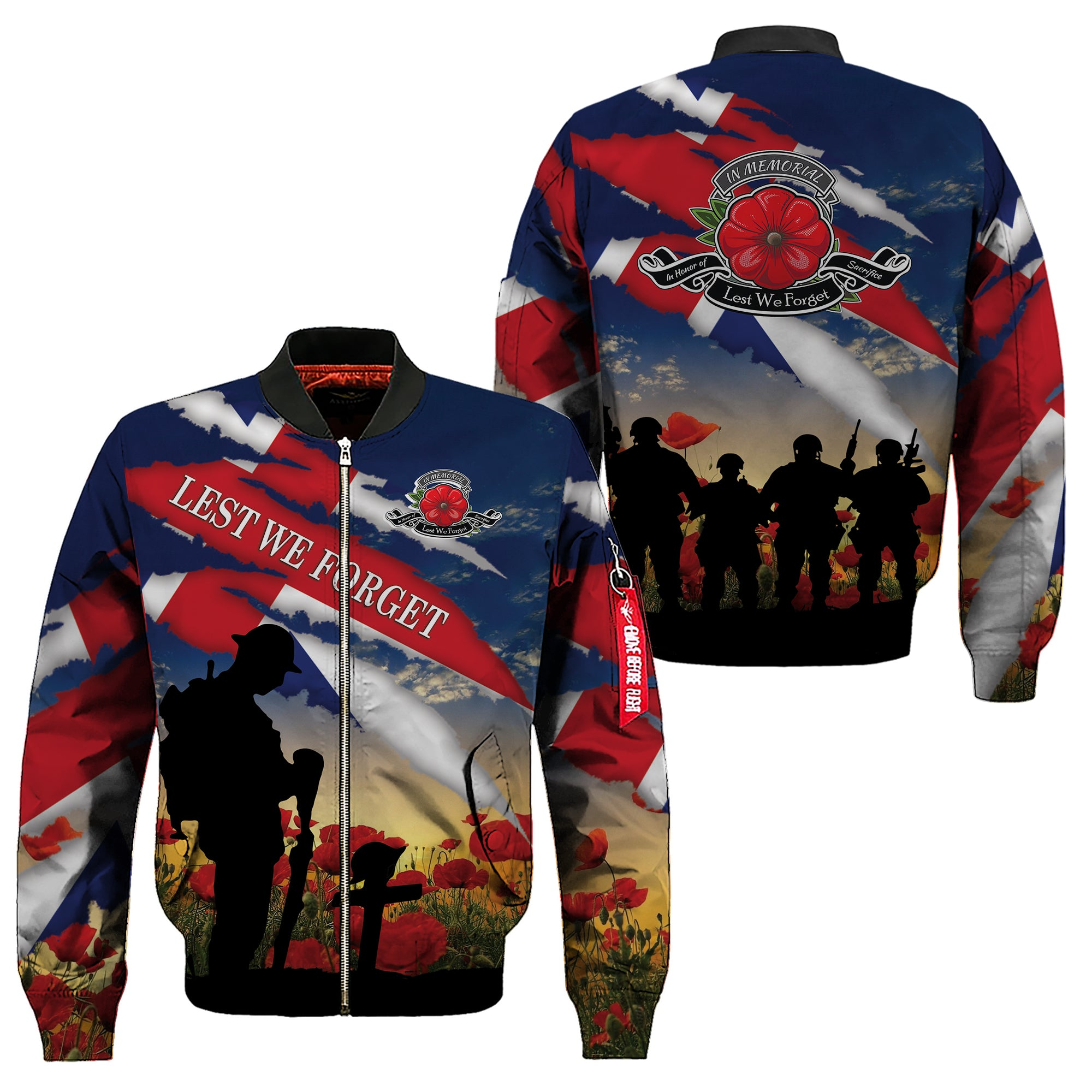 3D Apparel - Veterans  - Lest We Forget