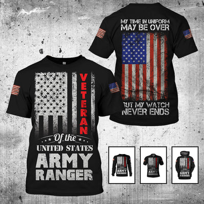 3d Veteran Apparels -Proud Army Ranger Veteran