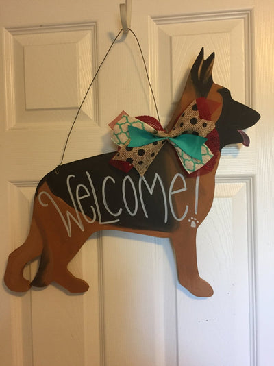German Shepherd Door Hanger - Dog Lover Decor