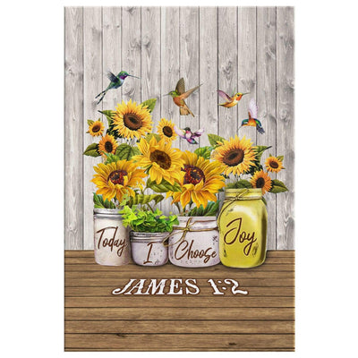 James 1:2 Today I choose Joy canvas wall art - Portrait - GnWarriors Clothing