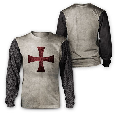 Epic 3D Printed Knight Templar Hoodie - Legendary Warriors - GnWarriors Clothing