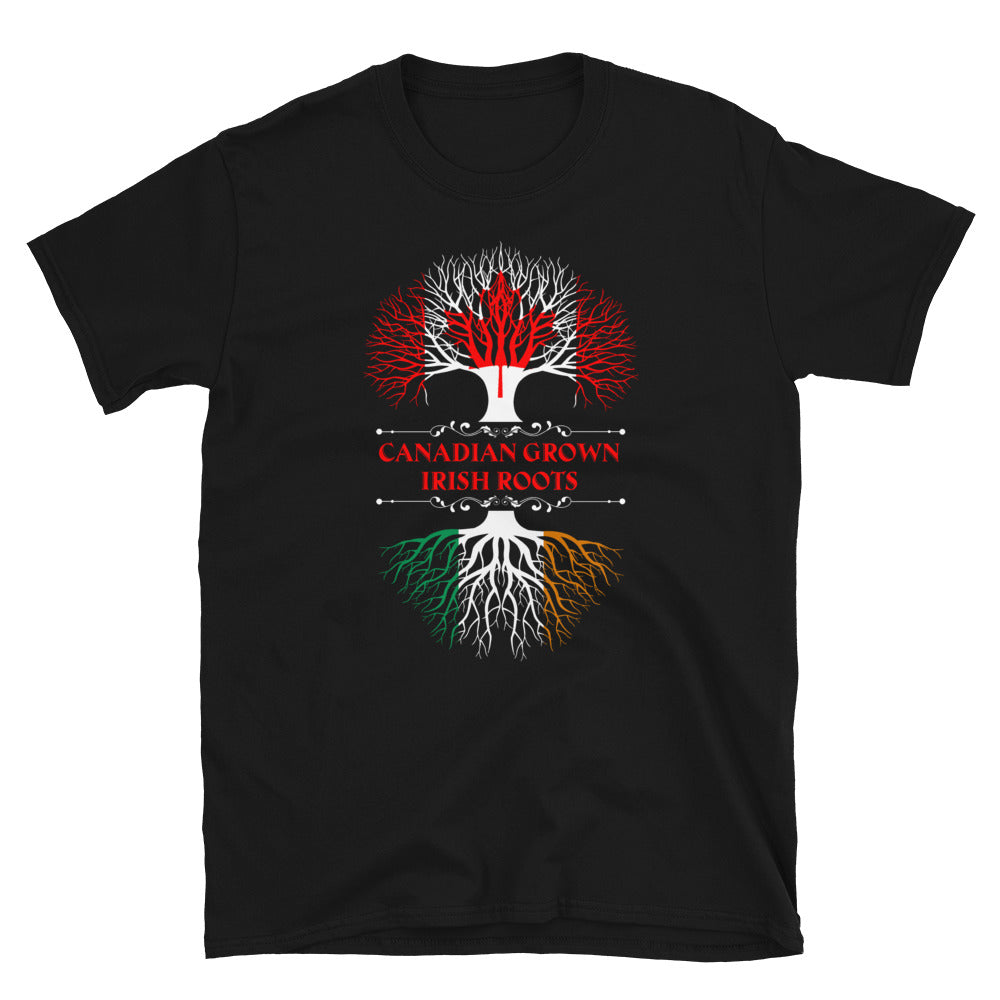 Canadian Grown with Irish Roots Short-Sleeve Unisex T-Shirt - GnWarriors Clothing