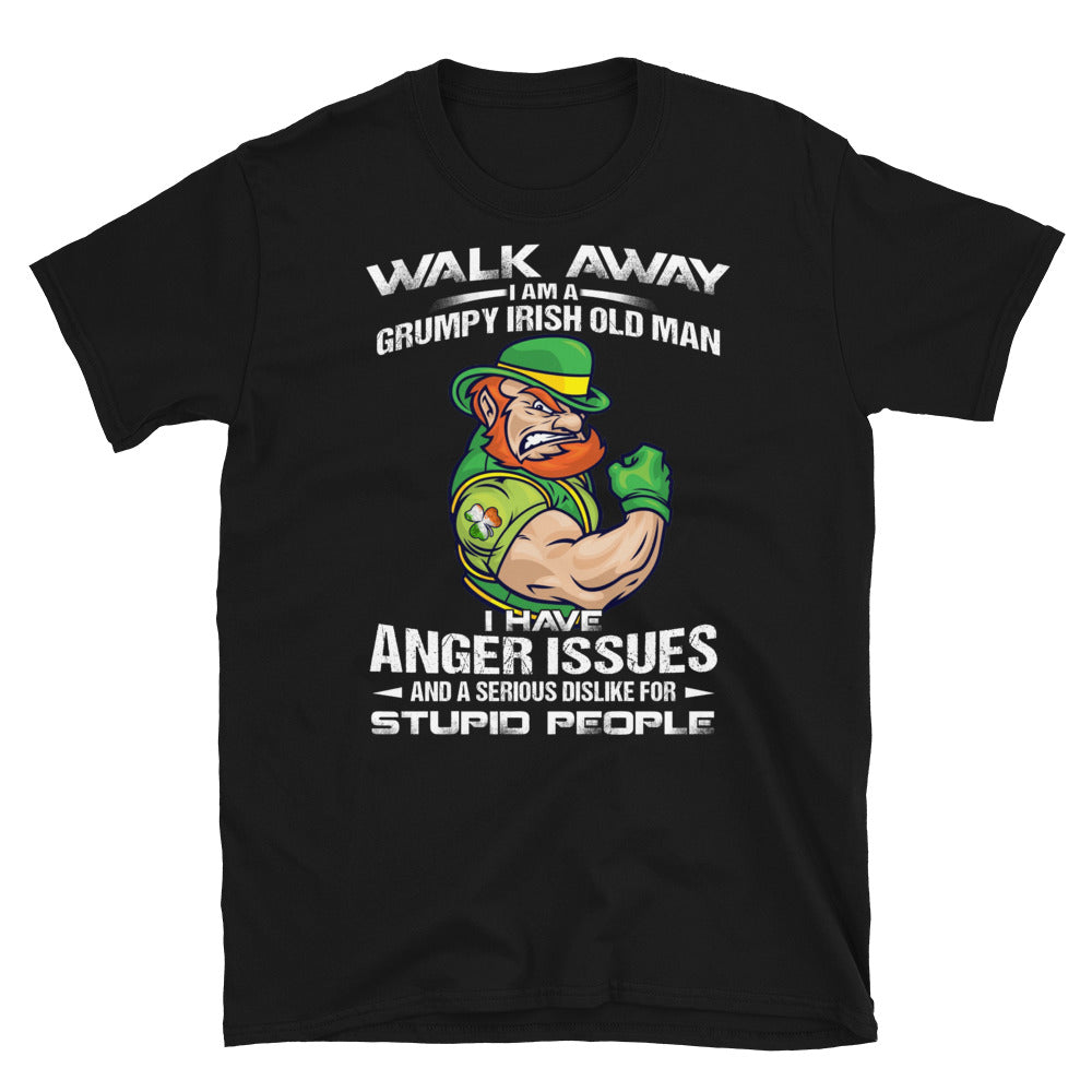 Grumpy Irish Old Man Short-Sleeve Unisex T-Shirt - GnWarriors Clothing