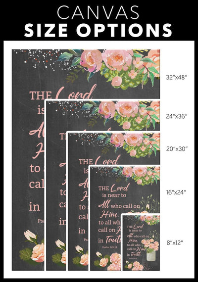 Psalm 145:18 The Lord is near to all who call on him canvas wall art - GnWarriors Clothing