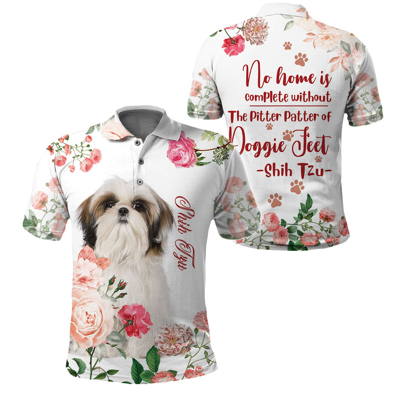 Print Full Printed Clothing - The Pitter Patter of Shih tzu