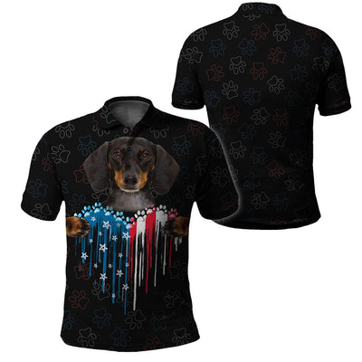 Limited Edition 3d apparel - USA Paws - Dachshund