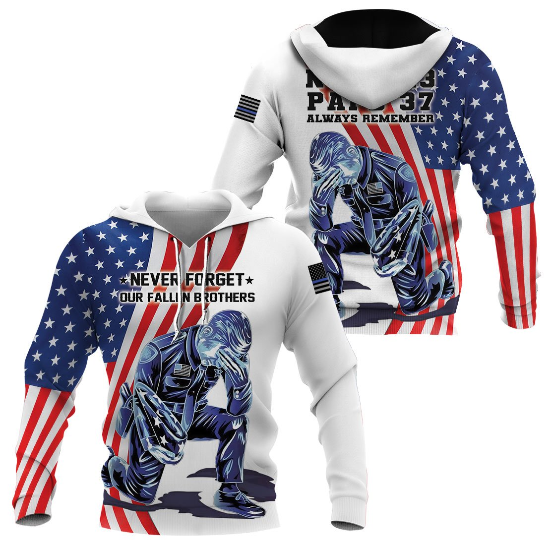 3D Police Apparel - Never Forget Our Fallen Brothers - 4zOutfitters Merchandise