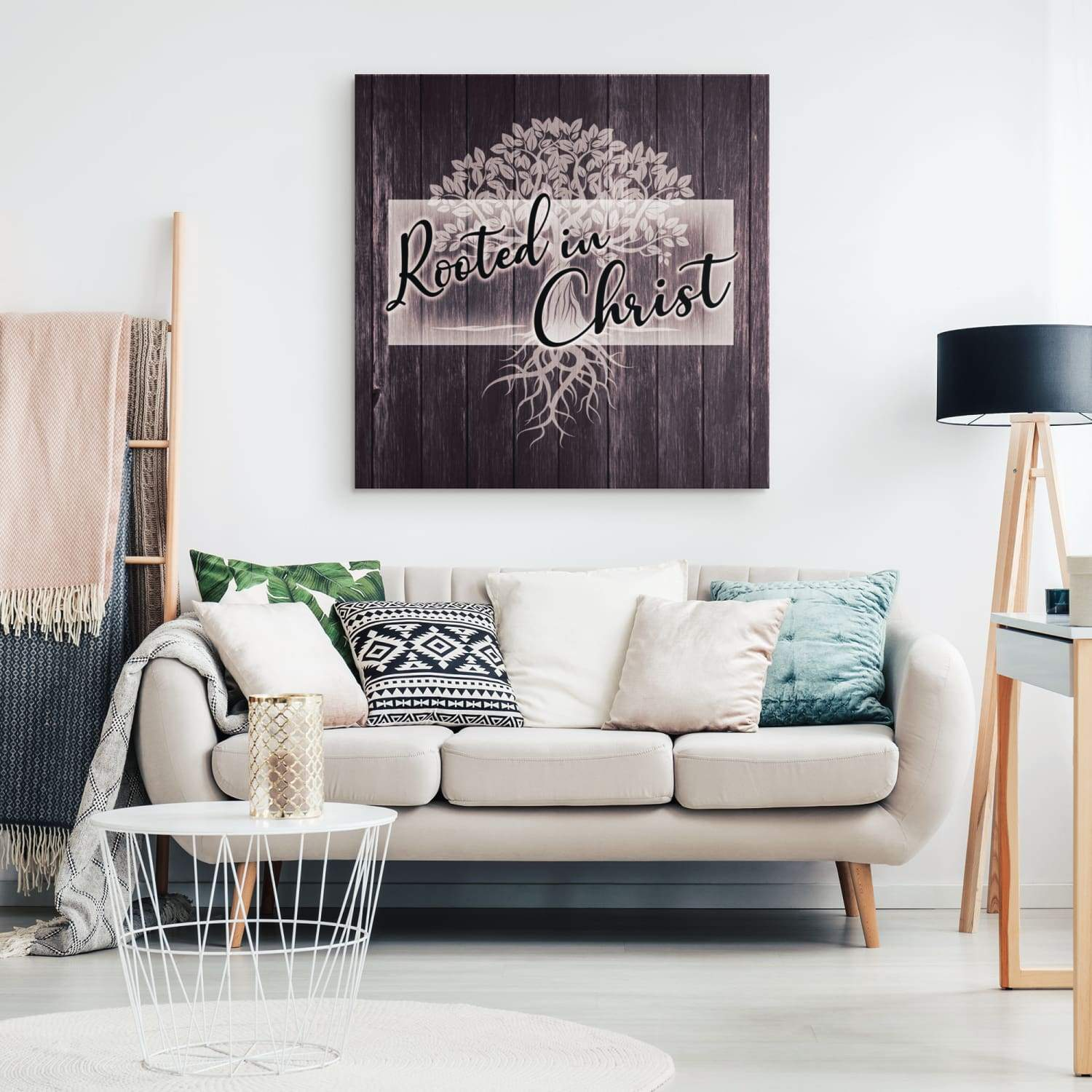 Rooted in Christ canvas wall art - GnWarriors Clothing
