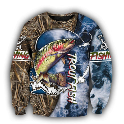 Life Trout Fishing 3D All Over Printed Shirts for Men and Women TR041201