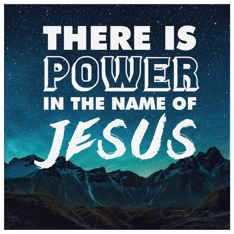 There is power in the name of Jesus canvas wall art - GnWarriors Clothing