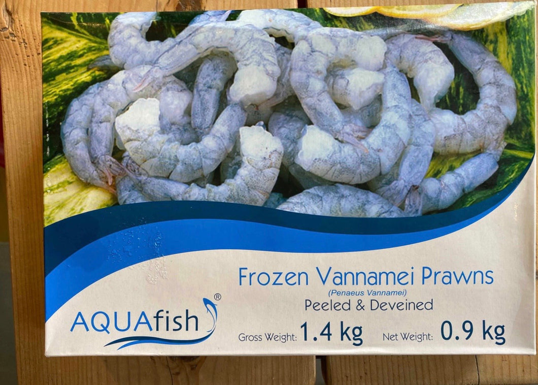 Frozen Raw Vannamei Prawns 1.4kg (900g net)