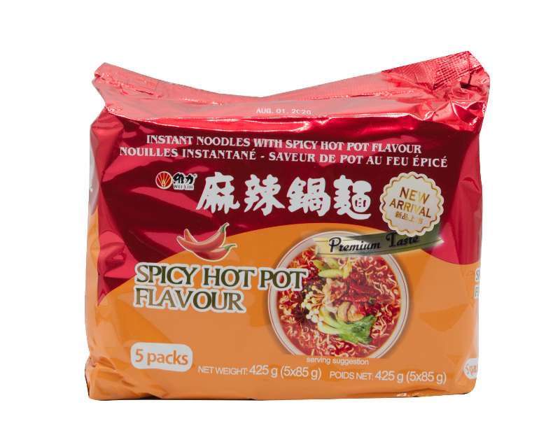 Wei-Lih Instant Noodle Spicy Hot Pot Flavour 425g (5 Packs)(麻辣鍋麵)