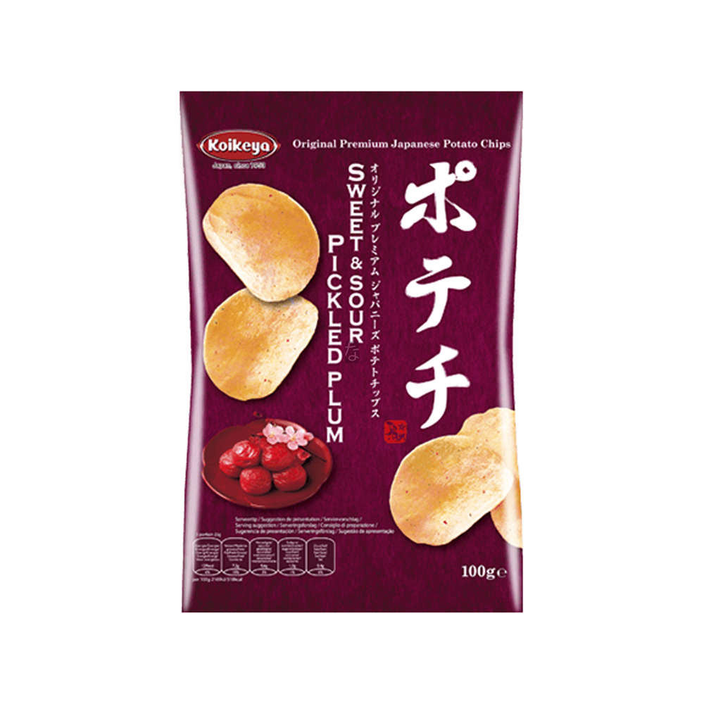KOIKEYA Sweet and Sour Pickled Plum Potato Chips 100g