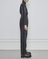 Taz Leather Jumpsuit - Noir
