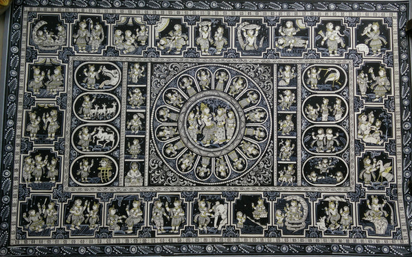 Monochromatic - Dashavataars of Krishna & his leela patachitra