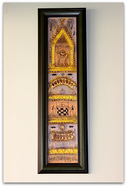 Vertical Dhokra panel frame - 20 inches / 9 inches