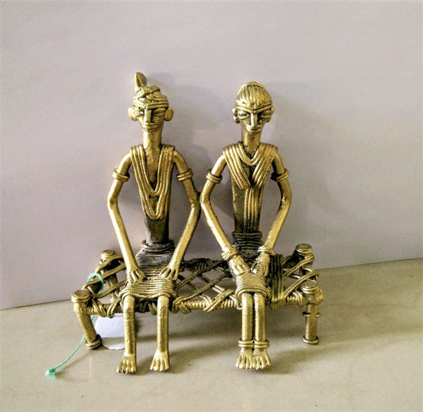 Dhokra Couple on cot