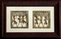 Set of 2 Dhokra Panels - Music is Life!