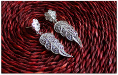 Leaf, triangles and stars - Click for variety of our silver jewelry