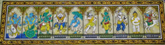 Advaita Handicrafts Dashavataars of Krishna - 30 by 8 inches