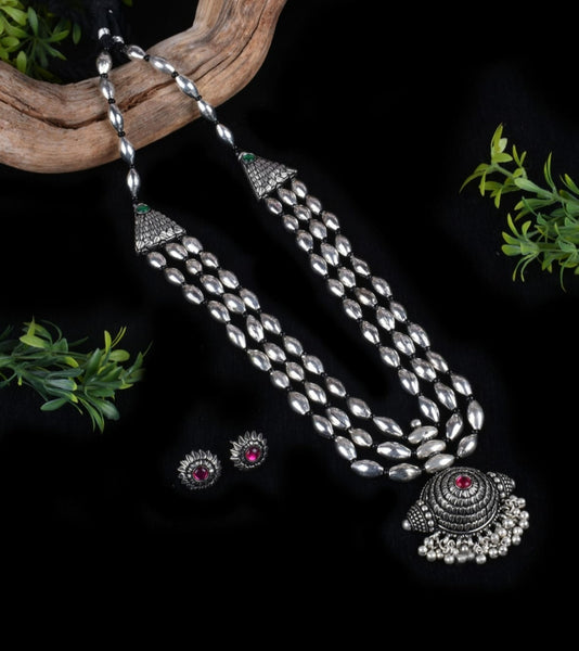Dholki Beads Antique Jewelry Necklace set