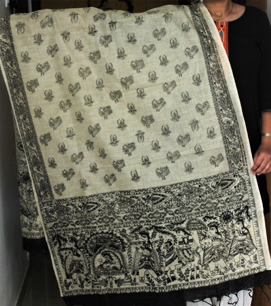 Advaita Handicrafts Cotton Dupattas - Ikkat & Madhubani - Click for options
