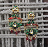 Advaita Handicrafts Polki styled Statement earrings - Click to see the entire range
