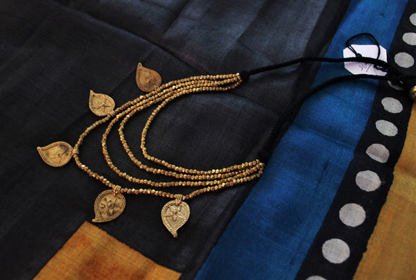 Dhokra tribal bead multistrand necklaces - click for options