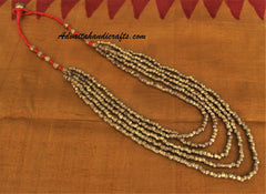 Chain Woven Dhokra Brass Metal Necklace