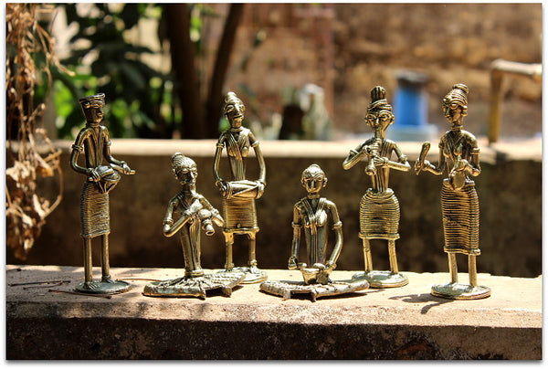Set of 6 Brass Musicians
