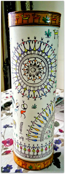 "13"" Hand painted & Hand crafted table lamp"