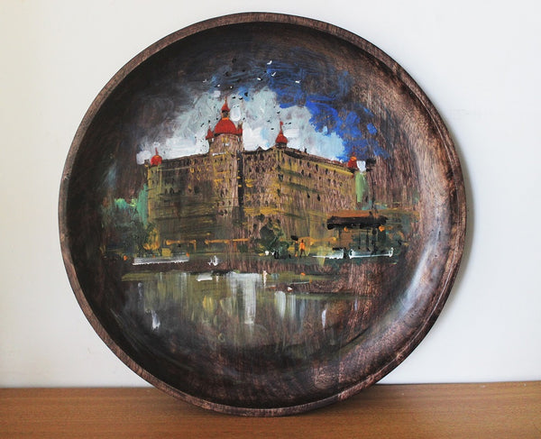 Original art work wall/ table plate - Mumbai meri jaan - Mumbai's Landmarks - Click to view
