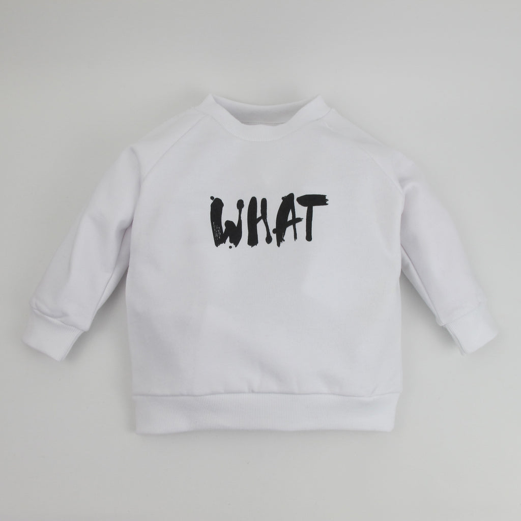 Kinder-Sweatshirt WHAT