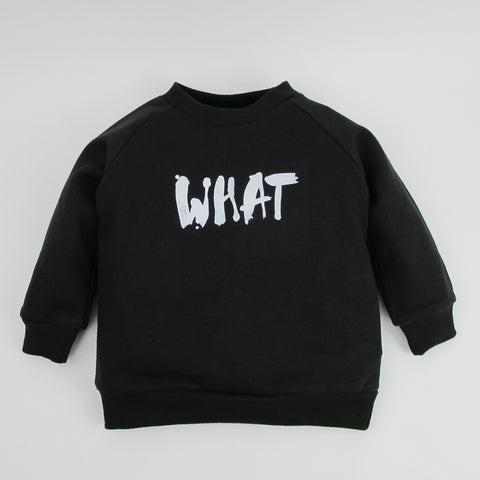 Kinder-Sweatshirt WHAT schwarz